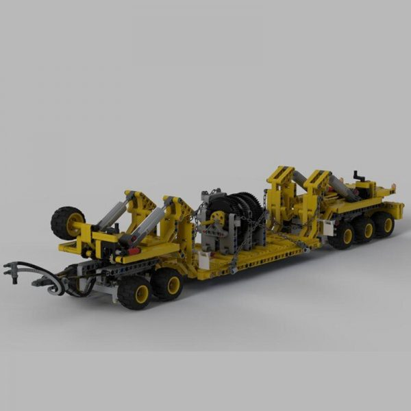 MOC 34732 Oshkosh M1070 Civil Version Tractor with Heavy Duty Trailer Technic by legolaus MOC FACTORY 5 - MOC FACTORY
