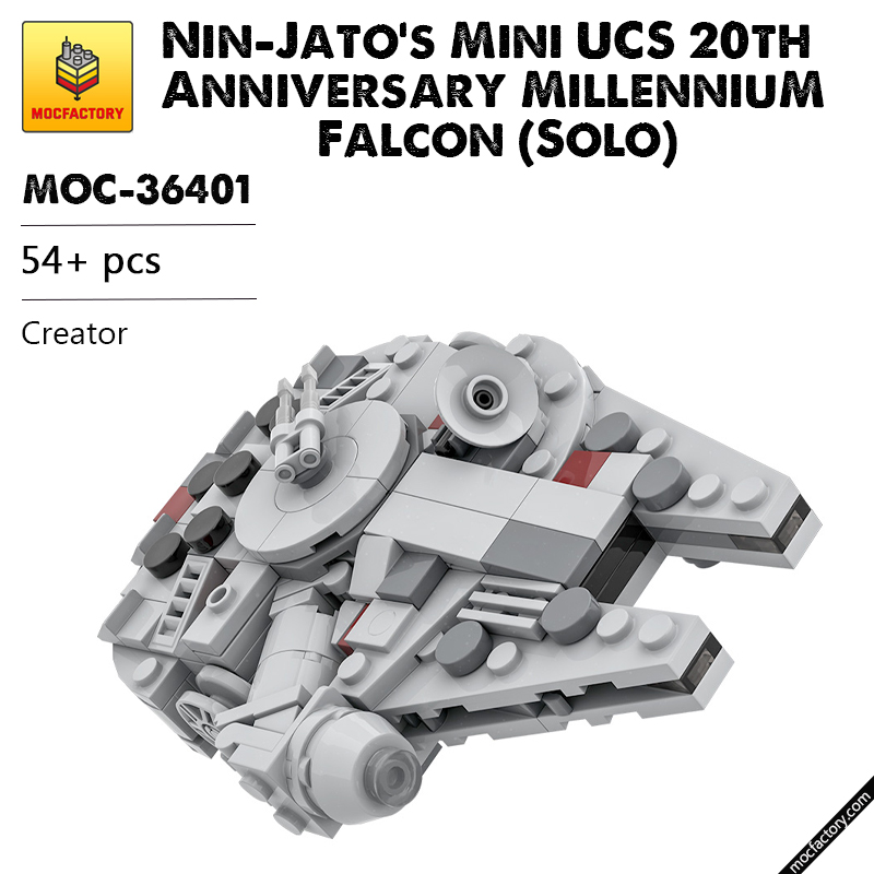 MOC 36401 Nin Jatos Mini UCS 20th Anniversary Millennium Falcon Solo Star Wars by Force of Bricks MOC FACTORY - MOC FACTORY