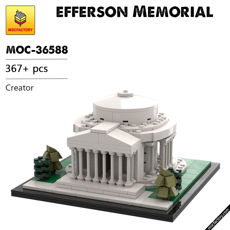MOC 36588 Jefferson Memorial Creator by klosspalatset MOC FACTORY - MOC FACTORY