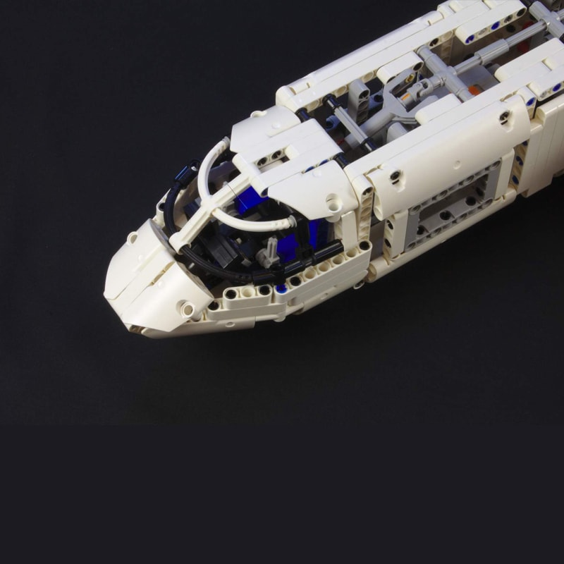MOC 36862 Cargo plane with 4 engines Technic by zz0025 MOC FACTORY 5 - MOC FACTORY
