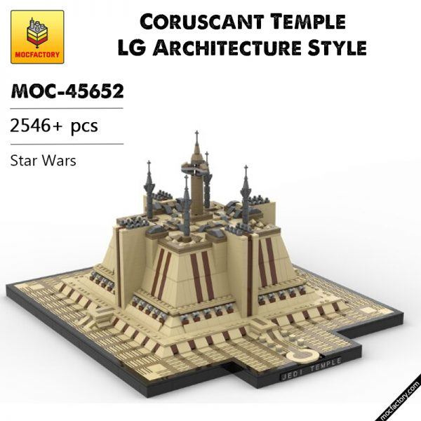 MOC 45652 Coruscant Temple LG Architecture Style Star Wars by Jeffy O MOC FACTORY 1 - MOC FACTORY