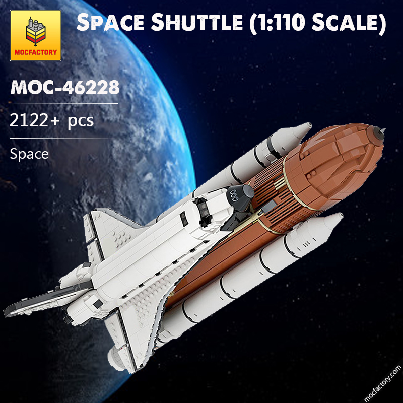 MOC 46228 Space Shuttle 1110 Scale Space by KingsKnight MOC FACTORY - MOC FACTORY