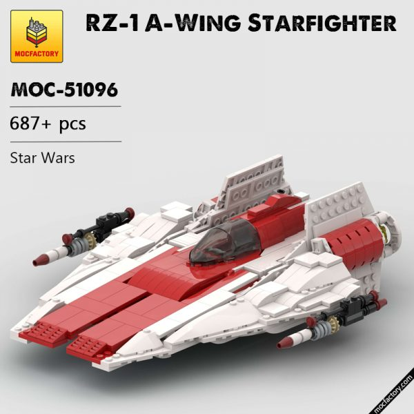 MOC 51096 RZ 1 A Wing Starfighter Star Wars by McGreedy MOC FACTORY - MOC FACTORY