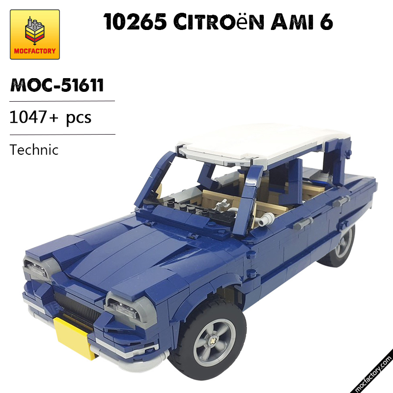 MOC 51611 10265 Citroen Ami 6 Technic by monstermatou MOC FACTORY 1 - MOC FACTORY