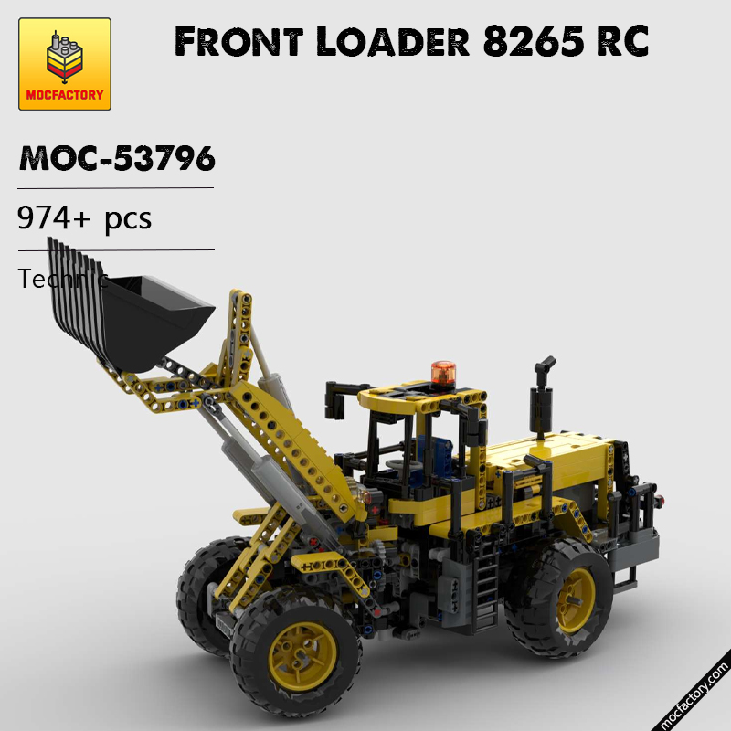 MOC 53796 Front Loader 8265 RC Technic by Edo99 MOC FACTORY - MOC FACTORY