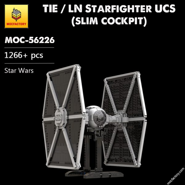 MOC 56226 TIE LN Starfighter UCS slim cockpit Star Wars by thomin MOC FACTORY - MOC FACTORY