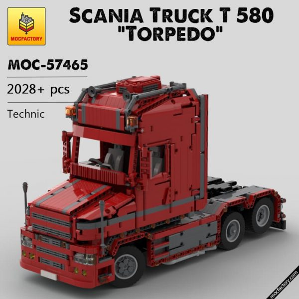 MOC 57465 Scania Truck T 580 Torpedo Technic by Furchtis MOC FACTORY 1 - MOC FACTORY