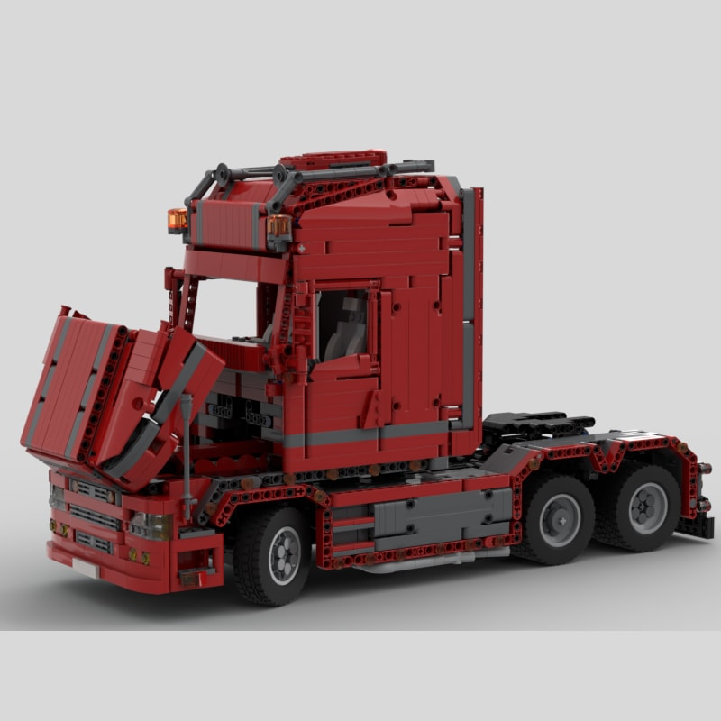MOC 57465 Scania Truck T 580 Torpedo Technic by Furchtis MOC FACTORY 3 - MOC FACTORY