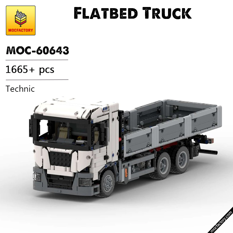 MOC 60643 Flatbed Truck Technic by DamianPLE Lego Garage MOC FACTORY - MOC FACTORY