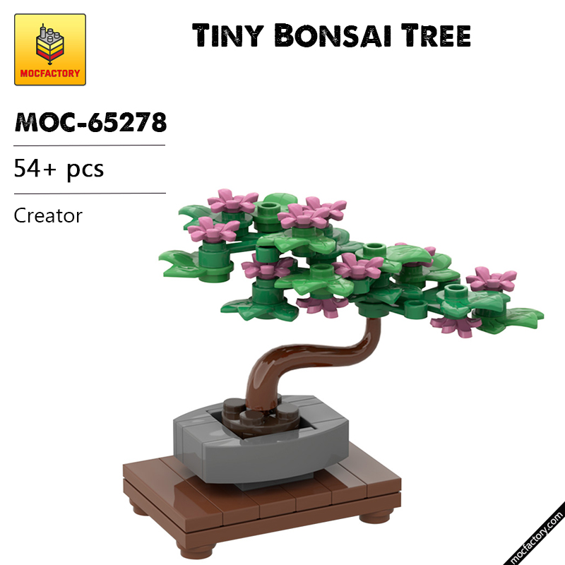 MOC 65278 Tiny Bonsai Tree Creator by Miro MOC FACTORY - MOC FACTORY