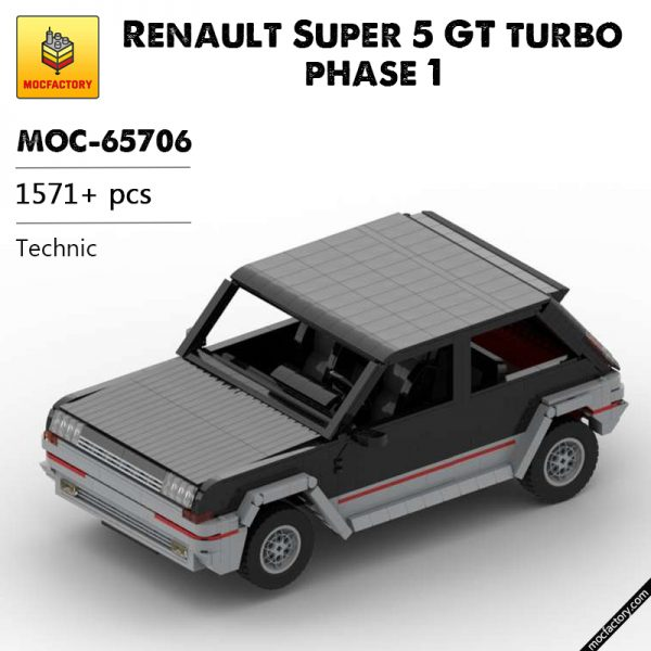 MOC 65706 Renault Super 5 GT turbo phase 1 Technic by tophy legrand MOC FACTORY - MOC FACTORY