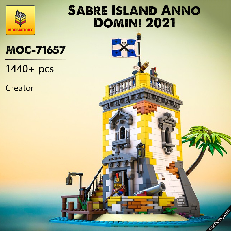 MOC 71657 Sabre Island Anno Domini 2021 Creator by SleeplessNight MOC FACTORY - MOC FACTORY