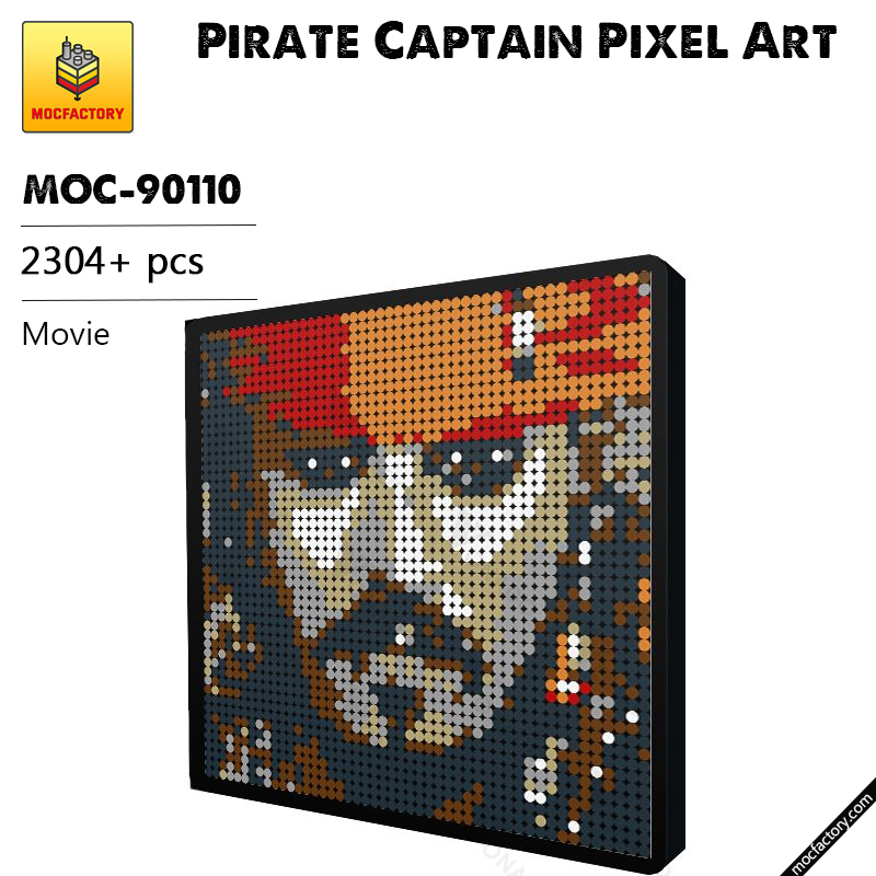 MOC 90110 Pirate Captain Pixel Art Movie MOC FACTORY - MOC FACTORY
