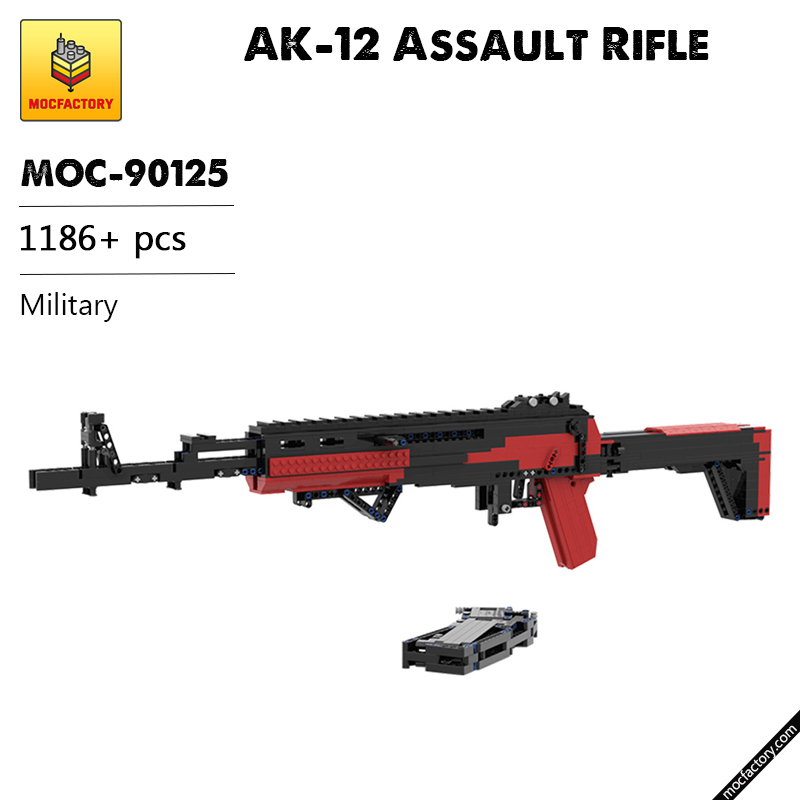 MOC 90125 AK 12 Assault Rifle Military MOC FACTORY - MOC FACTORY
