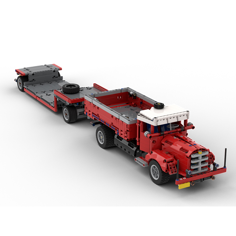 MOC 47757 Side Dumper Truck with Low Loader Trailer Bussing 42098 C Model Technic by time hh MOC FACTORY 2 - MOC FACTORY
