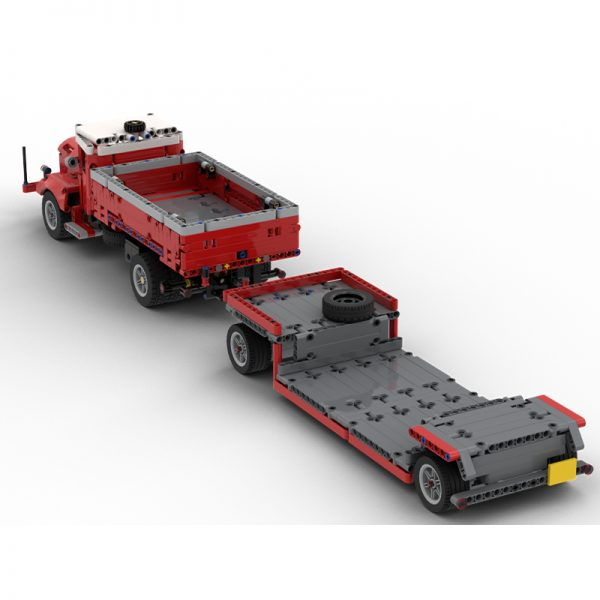MOC 47757 Side Dumper Truck with Low Loader Trailer Bussing 42098 C Model Technic by time hh MOC FACTORY 3 - MOC FACTORY