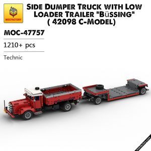 MOC 47757 Side Dumper Truck with Low Loader Trailer Bussing 42098 C Model Technic by time hh MOC FACTORY - MOC FACTORY