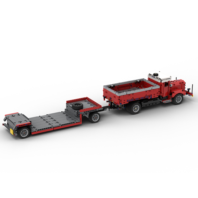 MOC 47757 Side Dumper Truck with Low Loader Trailer Bussing 42098 C Model Technic by time hh MOC FACTORY 4 - MOC FACTORY