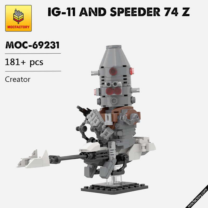 MOC 69231 IG 11 AND SPEEDER 74 Z Creator by Headsbrick MOC FACTORY - MOC FACTORY
