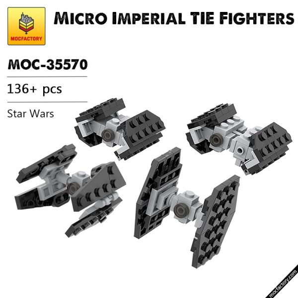 MOC-35570 Star Wars  Micro Imperial TIE Fighters Designer  ron_mcphatty MOC FACTORY