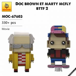 MOC FACTORY MOC-67603 Doc brown et marty mcfly bttf 2  by Headsbrick | Movie